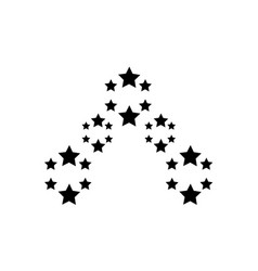 Star on white background style vector