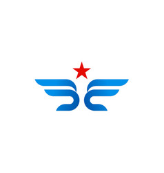 star wing abstract company logo vector image