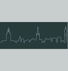 stockholm single line skyline vector image