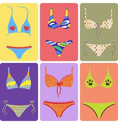 Swimsuit decorated vector