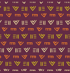 Tribal african aztec ornament seamless pattern vector