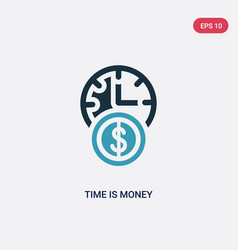 Two color time is money icon from time management vector
