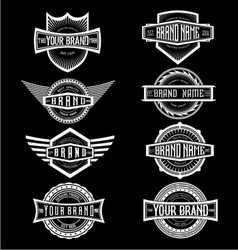 Vintage Brand Label Badges vector image