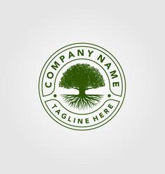 Vintage trees logo design vector