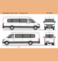 Volkswagen crafter passenger van l4h2 2017-2018 vector