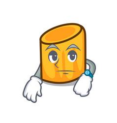 Waiting rigatoni mascot cartoon style vector