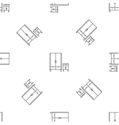 Wardrobe pattern seamless vector