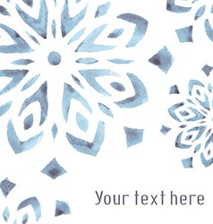 watercolor background with snowflakes vector image