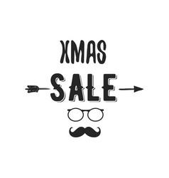 xmas sale typography overlay with arrow santa vector image