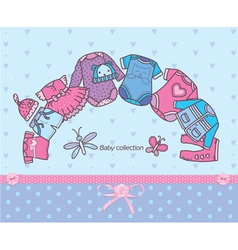 Clothing collection for baby vector image vector image