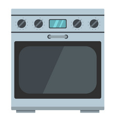 domestic gas oven icon cartoon style vector image