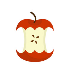 red apple core isolated fruit trash rubbish on vector image vector image