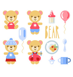 cartoon bears vector image