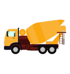 cartoon truck concrete mixer vector image