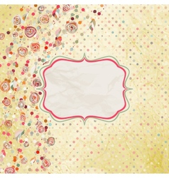 Floral heart valentine card EPS 8 vector image vector image