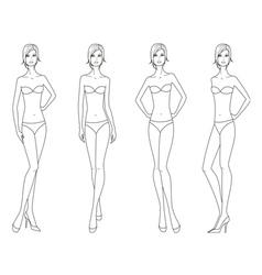 Women fashion figure vector image vector image