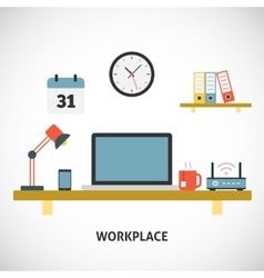 Workplace modern concept vector image
