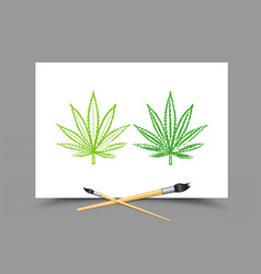 drawing hemp drug lesson vector image vector image