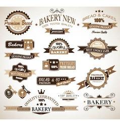 Bakery vinatge labels vector image vector image