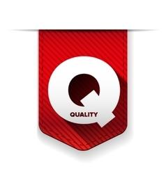 Quality icon ribbon vector image