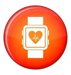 Smartwatch icon flat style vector image