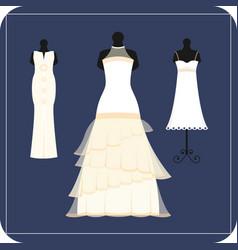 wedding bride dress elegance style celebration vector image