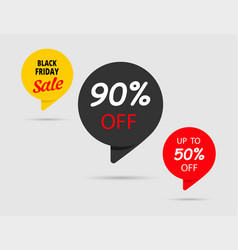 90 off 50 off black friday sale black tag vector image