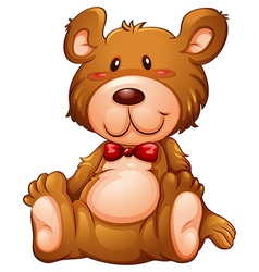A huggable brown bear vector