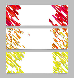Abstract banner background template design set vector