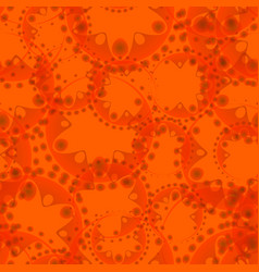 abstract seamless pattern of orange tentacles and vector image