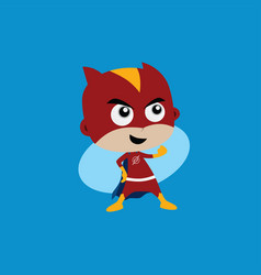 Adorable and amazing cartoon superhero in classic vector