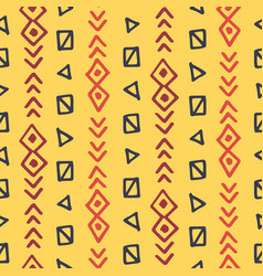 african seamless pattern ethnic tribal ornament vector image