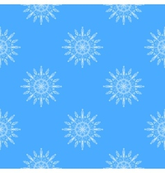 Beautiful snowflakes seamless pattern vector image