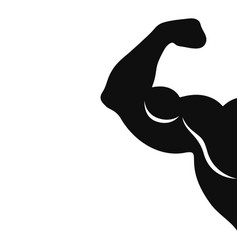 Biceps sign vector