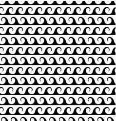 black waves lines seamless greek pattern vector image
