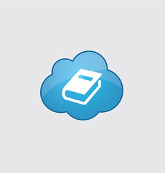 Blue cloud book icon vector image