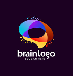 Brain logo design template vector