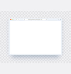 browser window template in light theme for website vector image