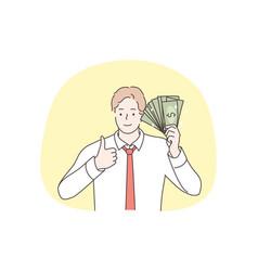 business success goal achievement investment vector image