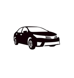 car silhouette for vinyl cutting template vector image