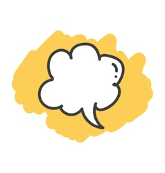 Cartoon doodle speech bubble vector