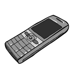 cartoon image of cellphone vector image