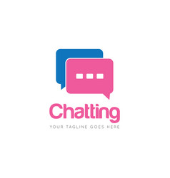 Chat logo and icon vector