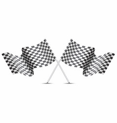 checkered flag crossed on white for sport race vector image