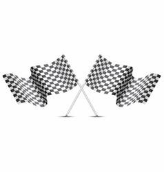 checkered flag crossed on white for sport race vector image