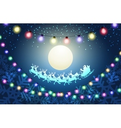 Christmas Night Concept vector image