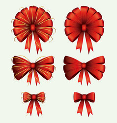 christmas set decorative ribbons on white vector image