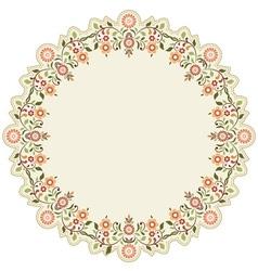 Circular islamic background six vector