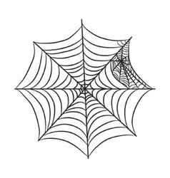 Cobweb isolated on white vector