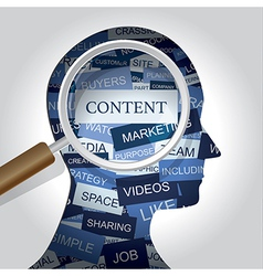 Content Markerting vector image